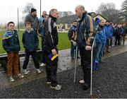 13 January 2013; Tipperary manager Eamon O'Shea before the start of the game with Offaly manager Ollie Baker. Inter-County Challenge Match, Tipperary v Offaly, Templemore, Co. Tipperary. Picture credit: Matt Browne / SPORTSFILE