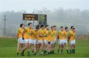 13 January 2013; The Leitrim team before the start of the game. Connacht FBD League Section B, Leitrim v Mayo, Páirc Seán O'Heslin, Ballinamore, Co. Leitrim. Picture credit: David Maher / SPORTSFILE