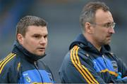 13 January 2013; Gerry McGill, left, with Tipperary manager Peter Creedon. McGrath Cup Quarter-Final, Cork v Tipperary, Páirc Ui Rinn, Cork. Picture credit: Brendan Moran / SPORTSFILE