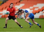 20 January 2013; Keith Quinn, Down, in action against Owen Coyle, Monaghan. Power NI Dr. McKenna Cup, Semi-Final, Monaghan v Down, Athletic Grounds, Armagh. Picture credit: Oliver McVeigh / SPORTSFILE