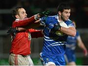 26 January 2013; Neil McAdam, Monaghan, in action against Mark Donnelly, Tyrone. Power NI Dr. McKenna Cup Final, Tyrone v Monaghan, Athletic Grounds, Armagh. Picture credit: Oliver McVeigh / SPORTSFILE