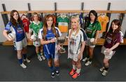 29 January 2013; In attendance at the 2013 Ladies National Football League launch and Tesco Homegrown sponsorship announcement of the league are Division 2 players, from left, Cavan's Ciara O'Reilly, Fermanagh's Shauna Hamilton, Clare's Eimear Considine, Kildare's Aisling Savage, Kerry's Aislinn Desmond and Galway's Marian Hernon. Croke Park, Dublin. Picture credit: Paul Mohan / SPORTSFILE
