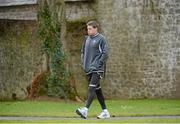 8 February 2013; Ireland's Ronan O'Gara on his way to squad training ahead of their RBS Six Nations Rugby Championship match against England on Sunday. Ireland Rugby Squad Training, Carton House, Maynooth, Co. Kildare. Picture credit: Matt Browne / SPORTSFILE