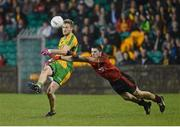 9 February 2013; Ross Wherity, Donegal, in action against Keith Quinn, Down. Allianz Football League, Division 1, Donegal v Down, Páirc MacCumhaill, Ballybofey, Donegal. Picture credit: Oliver McVeigh / SPORTSFILE