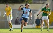10 February 2013; Craig Dias, Dublin, celebrates after scoring his side's first goal, alongside Kerry's Brendan Kealy, left, and Marc O Se. Allianz Football League, Division 1, Kerry v Dublin, Fitzgerald Stadium, Killarney, Co. Kerry. Picture credit: Diarmuid Greene / SPORTSFILE