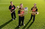 14 February 2013; Kilkenny players Jackie Tyrrell, centre, David Herity, left, and Tommy Walsh in attendance at the Kilkenny GAA/Glanbia 2013 launch. Nowlan Park , Kilkenny. Picture credit: Matt Browne / SPORTSFILE