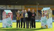 14 February 2013; In attendance at the Kilkenny GAA/Glanbia 2013 launch is Kilkenny manager Brian Cody, second from right, with Brian Phelan, centre, Glanbia Executive Director, Group Development and Global Cheese, and Kilkenny players, from left, Tommy Walsh, Jackie Tyrrell and David Herity. Nowlan Park , Kilkenny. Picture credit: Matt Browne / SPORTSFILE
