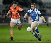 2 February 2013; Cahir Healy, Laois, in action against Ethan Rafferty, Armagh. Allianz Football League, Division 2, Laois v Armagh, O'Moore Park, Portlaoise, Co. Laois. Picture credit: Matt Browne / SPORTSFILE