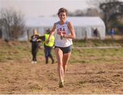 17 February 2013; Mary Kate Champagne, USA, on her way to winning the Women's Senior International 4,000m at the Rás na hÉireann 2013. Battle of the Boyne Site, Oldbridge Estate, Co. Meath. Picture credit: Paul Mohan / SPORTSFILE