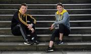 26 February 2013; Ireland's most famous sporting duo; Katie Taylor and Brian O'Driscoll, teamed up today to launch the revolutionary new adidas BOOST footwear. BOOST will be available in Life Style Sports stores from February 27th and is a pioneering cushioning innovation that provides the highest energy return in the running industry. Energy Boost also features innovative adidas Techfit technology for optimal comfort and engineered powerbands to stabilise the foot in motion. At the launch at Dublin's Radisson Blu Hotel, Stillorgan, are Brian O'Driscoll and Katie Taylor. Picture credit: Stephen McCarthy / SPORTSFILE