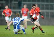 2 March 2013; Derek Maguire, Louth, in action against Cahir Healy, Laois. Allianz Football League, Division 2, Laois v Louth, O'Moore Park, Portlaoise, Co. Laois. Picture credit: Matt Browne / SPORTSFILE