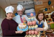 8 March 2013; Catherine Leyden, Odlums, left, with John Keegan, Director, Distribution Channels, Bank of Ireland, and Susan O'Dwyer, Chief Executive, Make-A-Wish, at Bake My Day for Make-A-Wish at Bank of Ireland, Mayor Street Lower, Dublin. Picture credit: Brian Lawless / SPORTSFILE