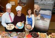8 March 2013; Catherine Leyden, Odlums, centre, with John Keegan, Director, Distribution Channels, Bank of Ireland, and Susan O'Dwyer, Chief Executive, Make-A-Wish, at Bake My Day for Make-A-Wish at Bank of Ireland, Mayor Street Lower, Dublin. Picture credit: Brian Lawless / SPORTSFILE