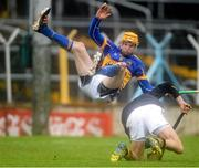 10 March 2013; Lar Corbett, Tipperary, clashes with Kilkenny goalkeeper David Herity after scoring his side's second goal. Allianz Hurling League, Division 1A, Tipperary v Kilkenny, Semple Stadium, Thurles, Co. Tipperary. Picture credit: David Maher / SPORTSFILE