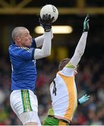 10 March 2013; Kieran Donaghy, Kerry, in action against Eamonn McGee, Donegal. Allianz Football League, Division 1, Donegal v Kerry, Páirc MacCumhaill, Ballybofey, Co. Donegal. Picture credit: Oliver McVeigh / SPORTSFILE