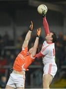16 March 2013; Shane Lennon, Louth, in action against Bredan Donaghy, Armagh. Allianz Football League, Division 2, Armagh v Louth, Athletic Grounds, Armagh. Picture credit: Oliver McVeigh / SPORTSFILE