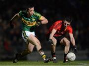 16 March 2013; Keith Quinn, Down, in action against Brian Maguire, Kerry. Allianz Football League, Division 1, Kerry v Down, Austin Stack Park, Tralee, Co. Kerry. Picture credit: Stephen McCarthy / SPORTSFILE