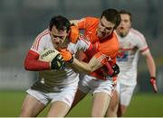 16 March 2013; Shane Lennon, Louth, in action against Brendan Donaghy, Armagh. Allianz Football League, Division 2, Armagh v Louth, Athletic Grounds, Armagh. Picture credit: Oliver McVeigh / SPORTSFILE