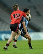 23 March 2013; Craig Dias, Dublin, in action against Paul McComiskey, Down. Allianz Football League, Division 1, Dublin v Down, Croke Park, Dublin. Picture credit: Paul Mohan / SPORTSFILE