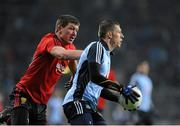 23 March 2013; Darren Daly, Dublin, in action against Peter Turley, Down. Allianz Football League, Division 1, Dublin v Down, Croke Park, Dublin. Picture credit: Daire Brennan / SPORTSFILE