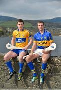 25 March 2013; In attendance at a GAA regional media event ahead of their Allianz League clash on Sunday in Semple Stadium are Shane McGrath, Tipperary, right, and Nicky O'Connell, Clare. Allianz GAA Regional Media Day, Killaloe / Ballina, Co. Tipperary. Picture credit: Diarmuid Greene / SPORTSFILE