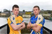 25 March 2013; In attendance at a GAA regional media event ahead of their Allianz League clash on Sunday in Semple Stadium are Nicky O'Connell, Clare, left, and Shane McGrath, Tipperary. Allianz GAA Regional Media Day, Killaloe / Ballina, Co. Tipperary. Picture credit: Diarmuid Greene / SPORTSFILE
