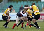 7 April 2013; Danny Barnes, Munster A, is tackled by Grant Pointer, Cornish Pirates. British & Irish Cup Quarter-Final, Cornish Pirates v Munster A, The Mennaye Field, Cornwall, England. Picture credit: Dan Mullan / SPORTSFILE