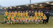 10 April 2013; The Donegal squad. Cadbury Ulster GAA Football Under 21 Championship Final, Cavan v Donegal, Brewster Park, Enniskillen, Co. Fermanagh. Picture credit: Oliver McVeigh / SPORTSFILE