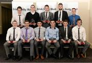 15 April 2013; Irish Daily Mail Football Future Champions 2013 award recipients. Front row, from left, Colin Walshe, DIT/Monaghan, Kieran Martin, Athlone IT/Westmeath, Jason Doherty, DIT/Mayo, Donal Lenihan, IT Blanchardstown/Meath, Conor Cox, UCC/Kerry, and Conor Sweeney, UCC/Tipperary. Back row, from left, Robert Lambert, DIT/Wicklow, Bryan Menton, DIT/Meath, David Givney, DIT/Cavan, Aidan O'Shea, DIT/Mayo, and Alan Coyne accepting on behalf of Jonny Cooper, DCU/Dublin and Michael Murphy, DCU/Donegal. Irish Daily Mail Future Champions Awards 2013, Croke Park, Dublin. Picture credit: Paul Mohan / SPORTSFILE