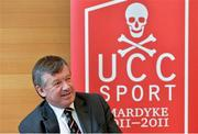 13 April 2013; Dr. Michael Murphy, President of UCC, at the opening of the Sonia O'Sullivan Athletics Track. Mardyke Arena, Cork. Picture credit: Brendan Moran / SPORTSFILE