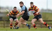 20 April 2013; Duncan Casey, Shannon, in action against Mark Roche, left, and Simon Morrissey, Lansdowne. Ulster Bank League, Division 1A, Shannon v Lansdowne, Coonagh, Limerick. Picture credit: Diarmuid Greene / SPORTSFILE