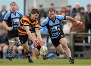 20 April 2013; Tom Kiersey, Lansdowne, in action against Eric Maloney, Shannon. Ulster Bank League, Division 1A, Shannon v Lansdowne, Coonagh, Limerick. Picture credit: Diarmuid Greene / SPORTSFILE