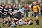 20 April 2013; Laura Feely, Galwegians, in action against Old Belvedere. Paul Flood Cup Final, Old Belvedere v Galwegians, Seapoint RFC, Killiney, Co. Dublin. Picture credit: Matt Browne / SPORTSFILE