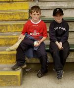 7 June 2003; Two young wexford supporters pictured before the match. Bank of Ireland Senior Football Championship qualifier, Wexford v Derry, Wexford Park, Wexford. Picture credit; Damien Eagers / SPORTSFILE *EDI*