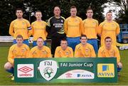 27 April 2013; The Carew Park team. FAI Junior Cup Semi-Final, in association with Umbro and Aviva, Sheriff YC v Carew Park, Frank Cooke Park, Dublin. Picture credit: Paul Mohan / SPORTSFILE