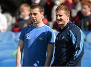 30 April 2013; Dublin footballers Cormac Costello, left,  and Ciarán Kilkenny look on during the Allianz Cumann na mBunscol Finals. Croke Park, Dublin. Picture credit: Paul Mohan / SPORTSFILE