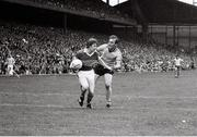 21 August 1977; Sean Walsh, Kerry, in action against Brian Mullins, Dublin. GAA Football All-Ireland Senior Championship Semi-Final, Dublin v Kerry, Croke Park, Dublin. Picture credit: Connolly Collection / SPORTSFILE