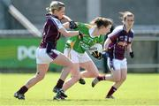 11 May 2013; Cait Lynch, Kerry, in action against Edel Concannon, Galway. TESCO HomeGrown Ladies National Football League, Division 2 Final, Kerry v Galway, Parnell Park, Donnycarney, Dublin. Picture credit: Brendan Moran / SPORTSFILE