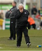 11 May 2013; Drogheda United manager Mick Cooke during the game. Setanta Sports Cup Final, Shamrock Rovers v Drogheda United, Tallaght Stadium, Tallaght, Co. Dublin. Picture credit: Paul Mohan / SPORTSFILE