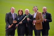 13 May 2013; RTÉ Raidió na Gaeltachta today launched its 2013 Championship coverage in Croke Park. The station enjoys full broadcast rights for all the matches in both football and hurling championships, an unrivalled position in the Irish media. RTÉ Raidió na Gaeltachta announced that it intends to broadcast up to 40 football matches, and more than 20 hurling games, with live commentary, reporting and analysis across its sports programmes. The station's sports schedule for the summer season into September includes 12 hours of sports programmes from Saturday to Monday, and will be enhanced by Monday sports programme Spórt an Luain presented by former Kerry intercounty footballer Dara Ó Cinnéide. In attendance at the announcement are, from left, Uachtarán Chumann Lúthchleas Gael Liam Ó Néill, Gearóidín Nic an Iomaire, Seán Bán Breathnach, Dara Ó Cinnéide, Séamus Mac Géidigh. Croke Park, Dublin. Picture credit: Ray McManus / SPORTSFILE