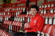 15 May 2013; Derry City's Barry McNamee with his Airtricity / SWAI Player of the Month Award for April 2013. Brandywell, Derry. Picture credit: Oliver McVeigh / SPORTSFILE
