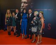 1 November 2017; Conor McGregor arrives with his family to the Conor McGregor Notorious film premiere at the Savoy Cinema in Dublin. Photo by David Fitzgerald/Sportsfile