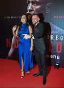 1 November 2017; Conor McGregor arrives with his partner Dee Devlin at the Conor McGregor Notorious film premiere at the Savoy Cinema in Dublin. Photo by David Fitzgerald/Sportsfile