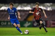 1 November 2017; Paddy Kirk of Bohemians in action against Paul Cleary of St Patrick's Athletic during the SSE Airtricity National Under 19 League Final match between Bohemians and St Patrick's Athletic at Dalymount Park in Dublin. Photo by Piaras Ó Mídheach/Sportsfile