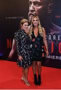 1 November 2017; Aoife and Erin McGregor arrive at the Conor McGregor Notorious film premiere at the Savoy Cinema in Dublin. Photo by David Fitzgerald/Sportsfile