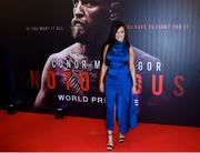 1 November 2017; Dee Devlin, Conor McGregor's partner arrives at the Conor McGregor Notorious film premiere at the Savoy Cinema in Dublin. Photo by David Fitzgerald/Sportsfile