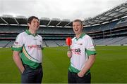 22 May 2013; Pictured at the launch of Newstalk 106-108 fm's coverage schedule of the 2013 GAA All-Ireland Senior Championships are Tyrone's Sean Cavanagh, left, and Kerry's Tomás Ó Sé. Newstalk sport-veterans, Ger Gilroy and Dave McIntyre, revealed an all-star panel that will join the Newstalk sports team in delivering the best GAA coverage and analysis available on national radio – for the second year running. Among those giving their expert commentary and analysis of the 2013 GAA Football All-Ireland Championship will be recently retired legend Dermot Earley, four time All Star Darragh Ó Sé, Kerry legend John Crowley and Mayo stars Liam McHale and David Brady, to name a few. Joining the team to give their views on the 2013 GAA Hurling All-Ireland Championship will be former Wexford hurler Diarmuid Lyng, Clare star Jamesie O'Connor, Cork's defensive rock Diarmuid O'Sullivan, and Offaly duo Daithí Regan and Johnny Pilkington. Croke Park, Dublin. Picture credit: Brian Lawless / SPORTSFILE