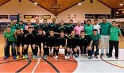 27 May 2013; The Eden College squad. FAI Futsal Cup Final, Shamrock Rovers v Eden College, National Basketball Arena, Tallaght, Dublin. Picture credit: Barry Cregg / SPORTSFILE