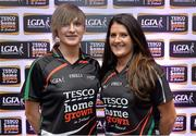 30 May 2013; Claire Carroll, left, and Mairead Morrissey, Tipperary, members of the TESCO HomeGrown NFL Division 3 Team of the League 2013. 2013 TESCO HomeGrown Ladies National Football Team of the League Presentations. Croke Park, Dublin. Picture credit: Barry Cregg / SPORTSFILE