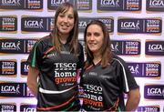 30 May 2013; Aine Tighe, left, and Mairead Stenson, Leitrim, members of the TESCO HomeGrown NFL Division 3 Team of the League 2013. 2013 TESCO HomeGrown Ladies National Football Team of the League Presentations. Croke Park, Dublin. Picture credit: Barry Cregg / SPORTSFILE